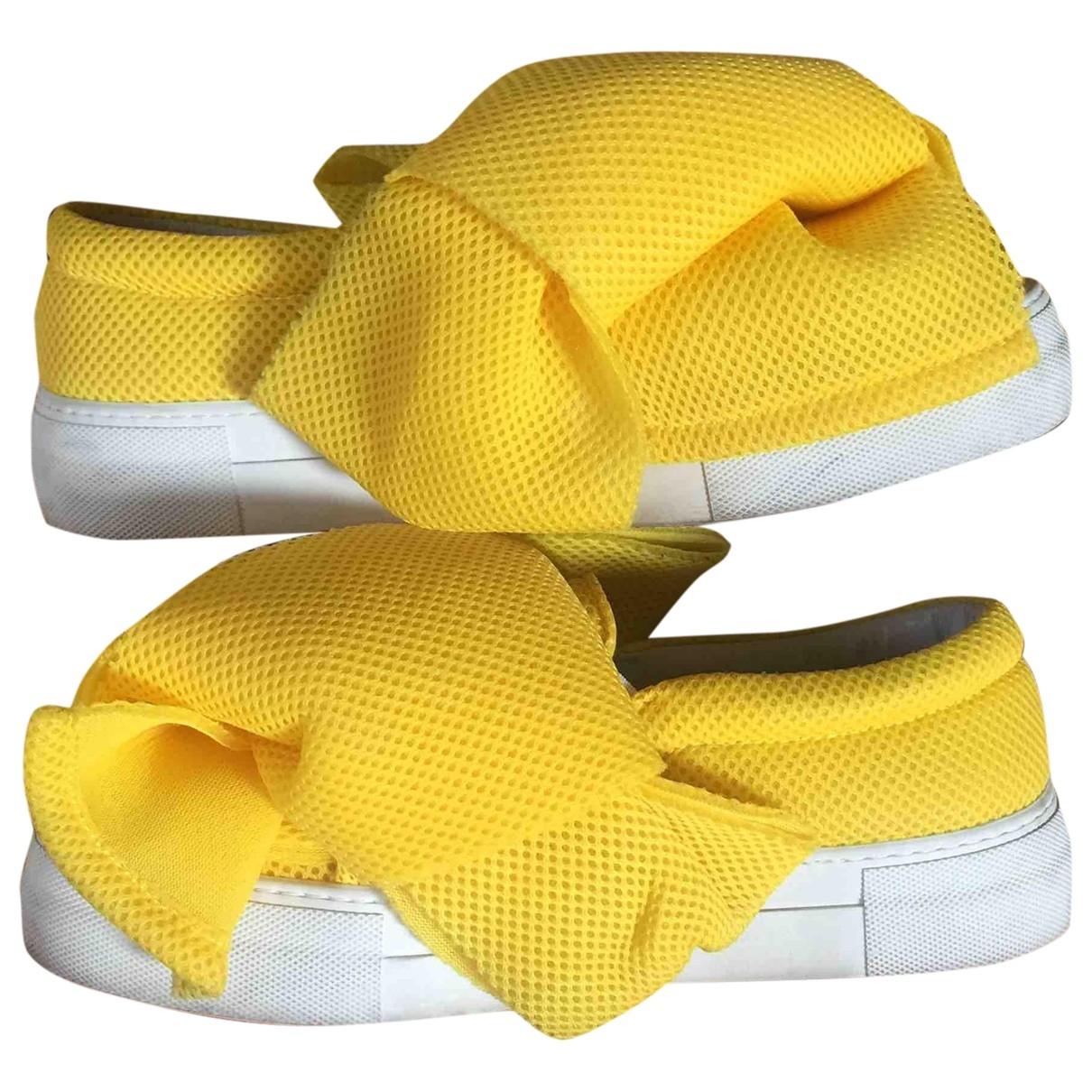 Joshua Sanders - Baskets   pour femme en toile - jaune