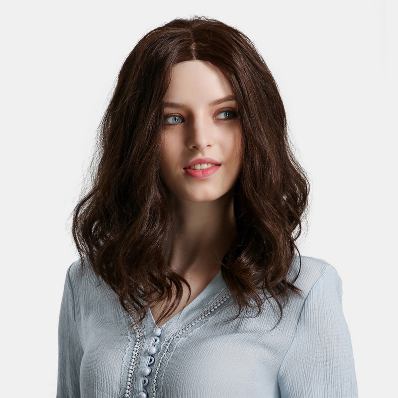 14 inch Synthetic Lace Front Wigs Brown Wave Hair Short Bob Wigs Natural Heat Resistant Fiber Wigs