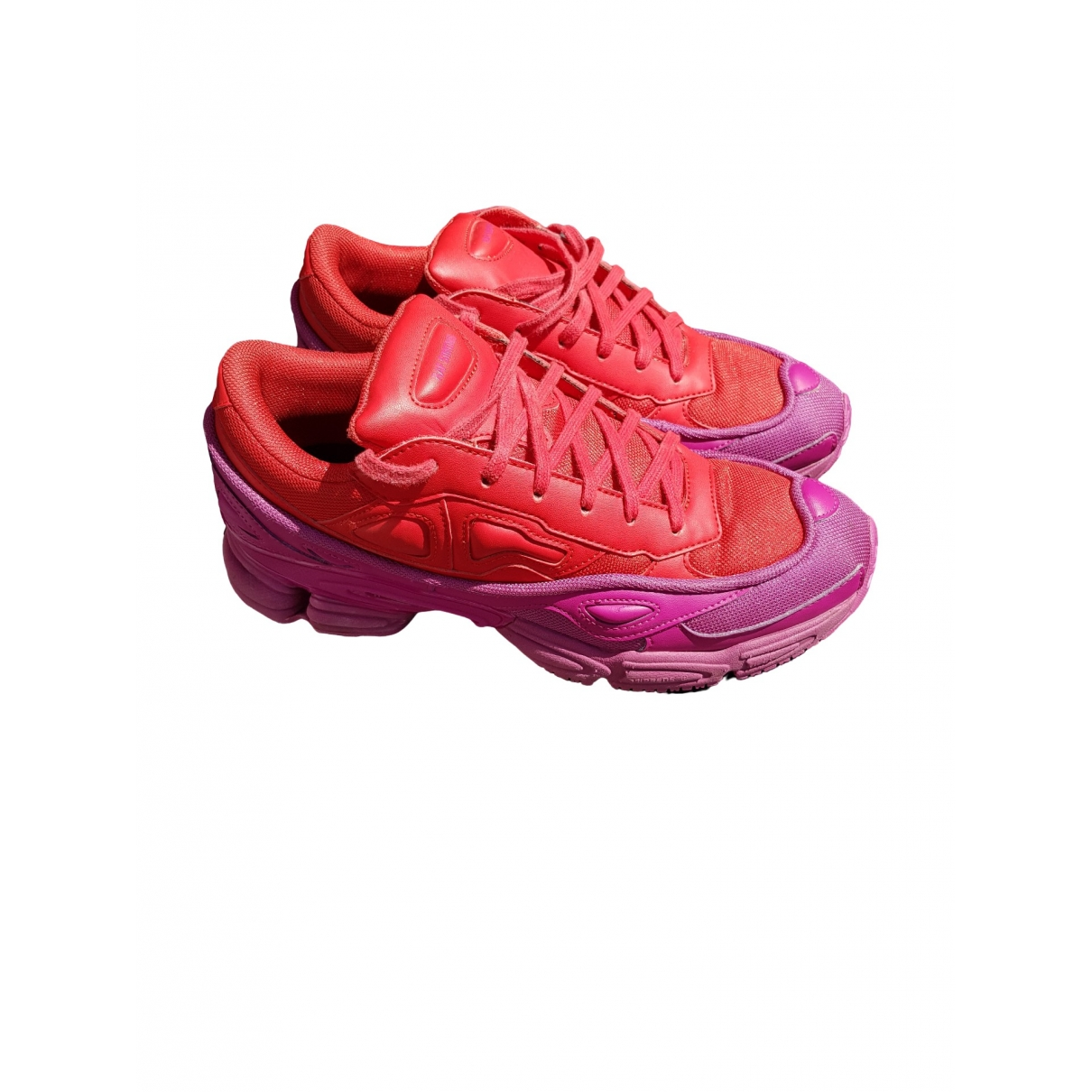 Adidas X Raf Simons Ozweego 2 Red Leather Trainers for Men 43 EU