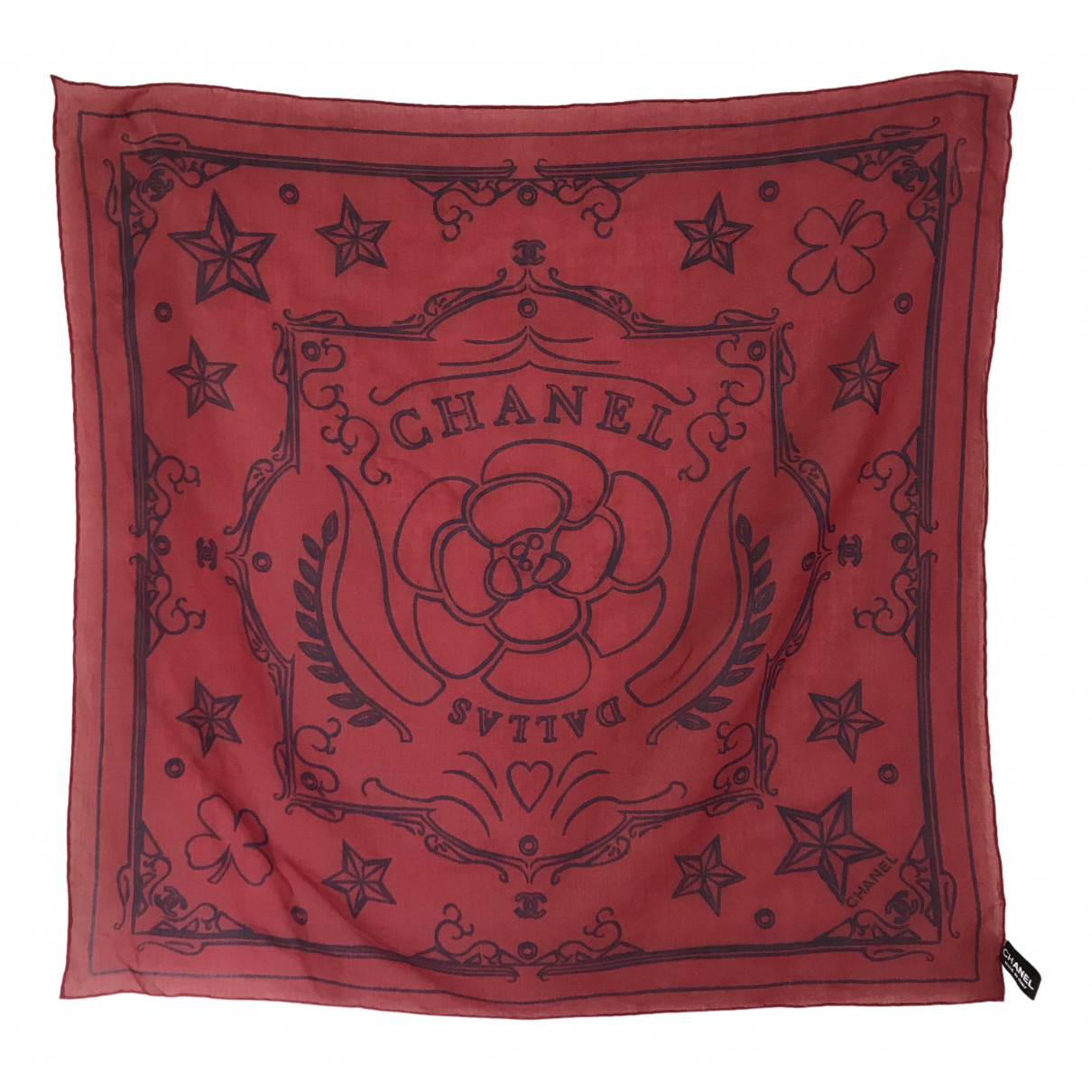 Chanel \N Red Cotton scarf for Women \N