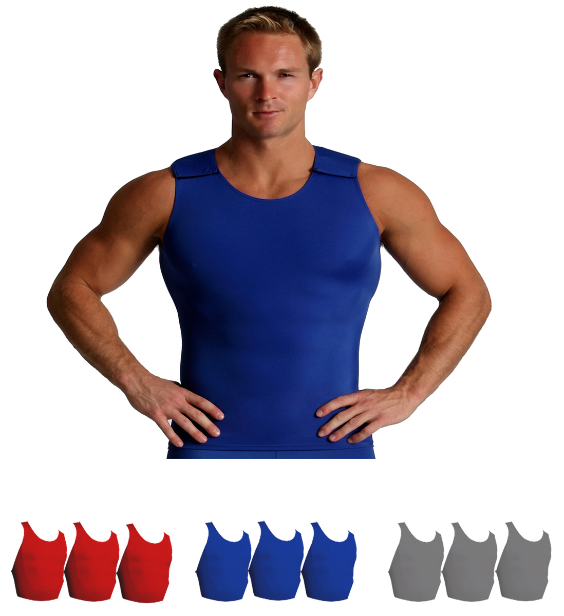 IS PRO Activewear Muscle Tank with Velcro Shoulders MA00V3
