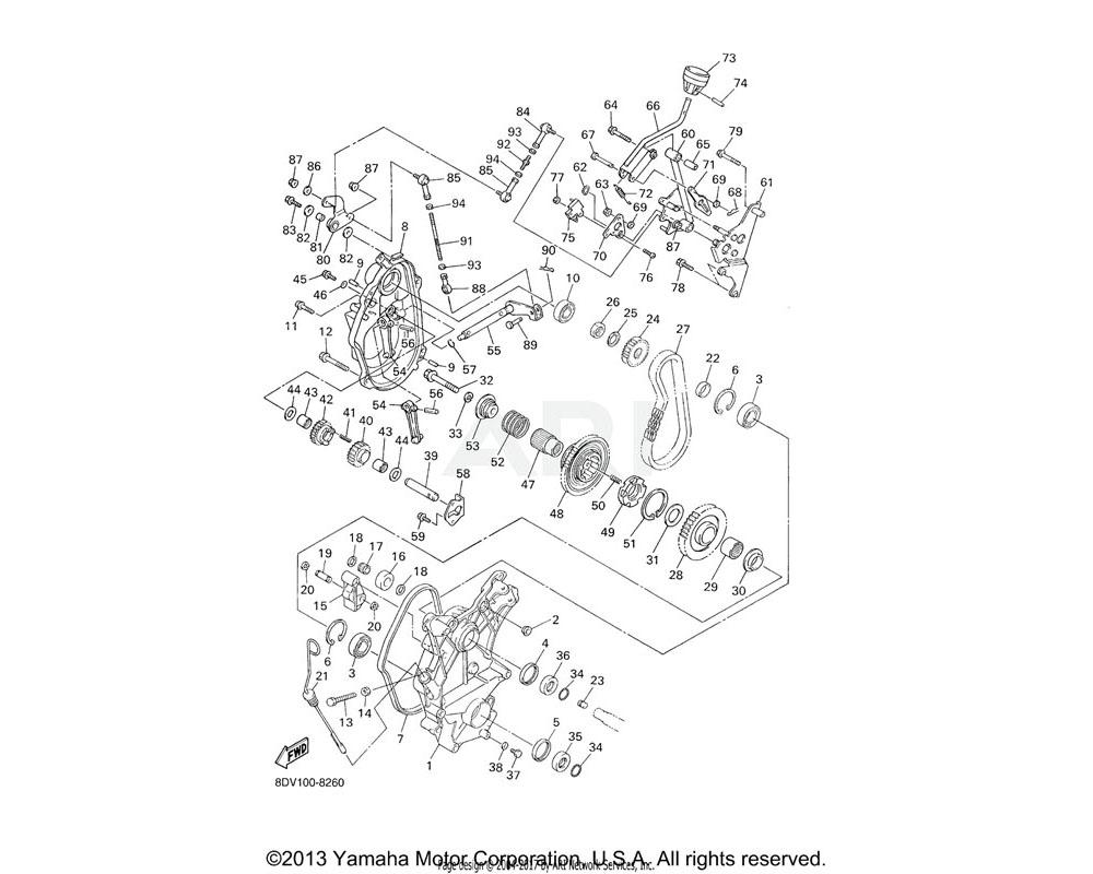 Yamaha OEM 8CW-18152-10-00 LEVER, SHIFT 4