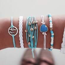 5pcs Cactus & Bead Decor String Bracelet