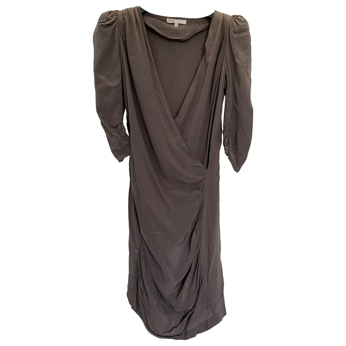 Maje \N Kleid in  Braun Seide