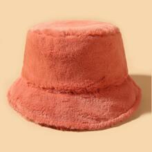 Sombrero cubo con felpa unicolor