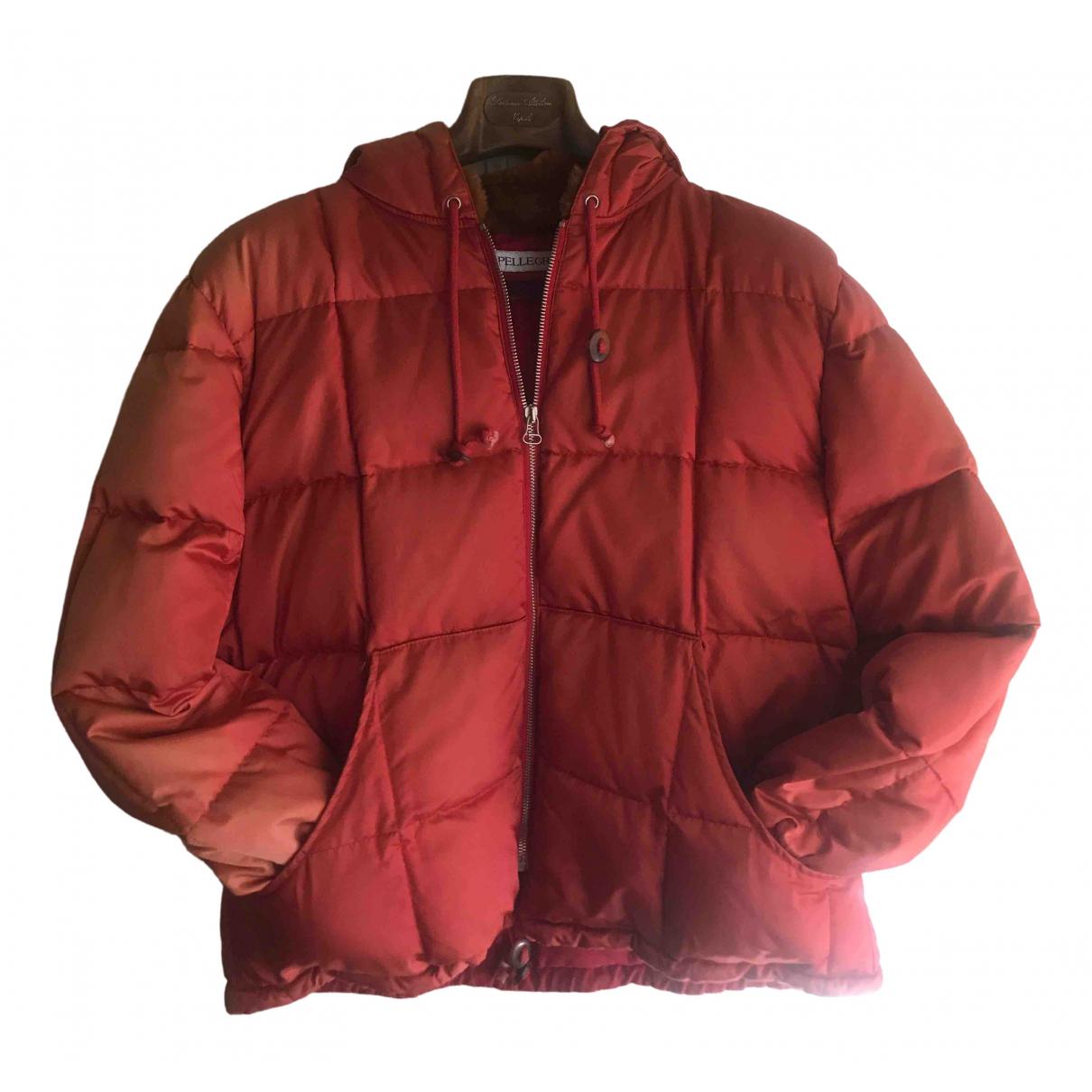 Non Signé / Unsigned Manche ballon Red Cotton jacket for Women 42 IT