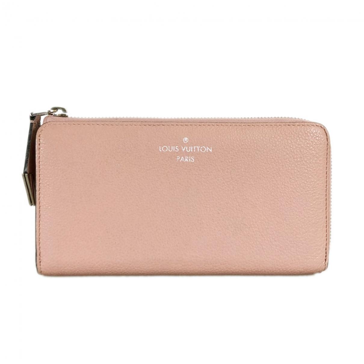 Louis Vuitton \N Portemonnaie in  Rosa Leder