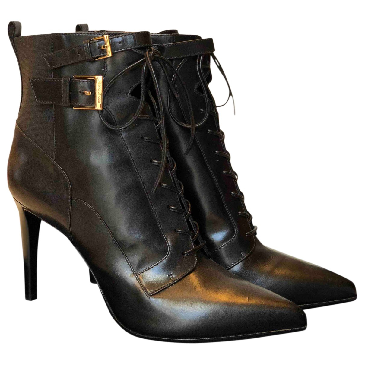 Sergio Rossi N Black Leather Ankle boots for Women 41.5 IT