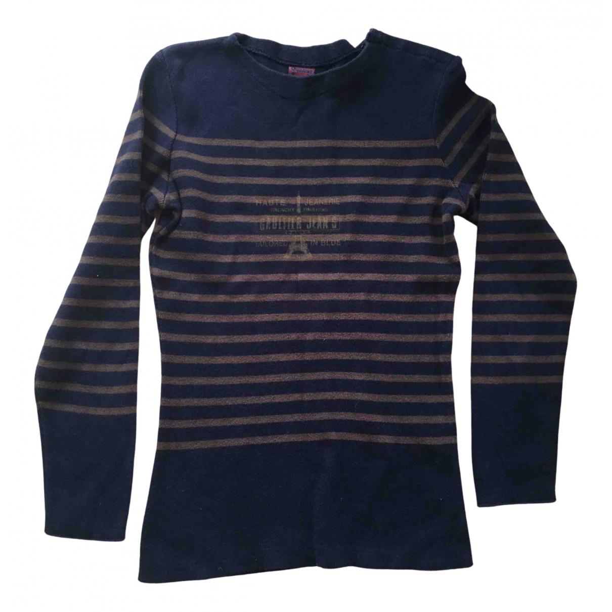 Jean Paul Gaultier \N Pullover.Westen.Sweatshirts  in  Marine Wolle
