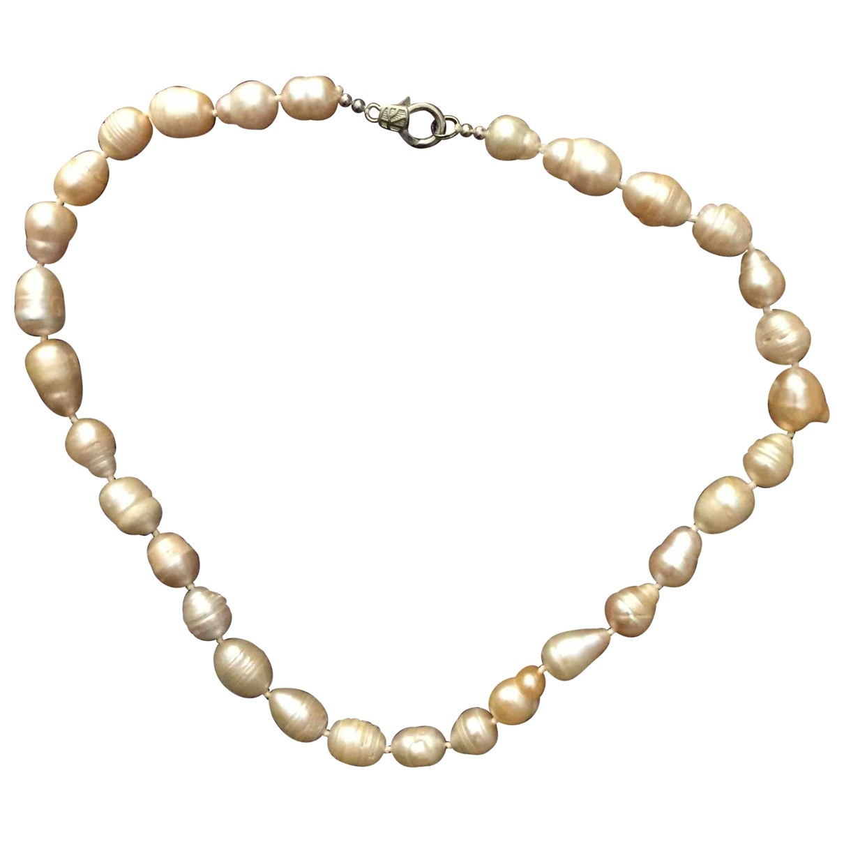 Non Signé / Unsigned Nacre Beige Pearls necklace for Women \N