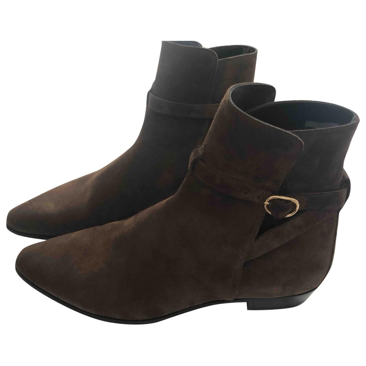 Celine \N Brown Suede Boots for Men 44 EU