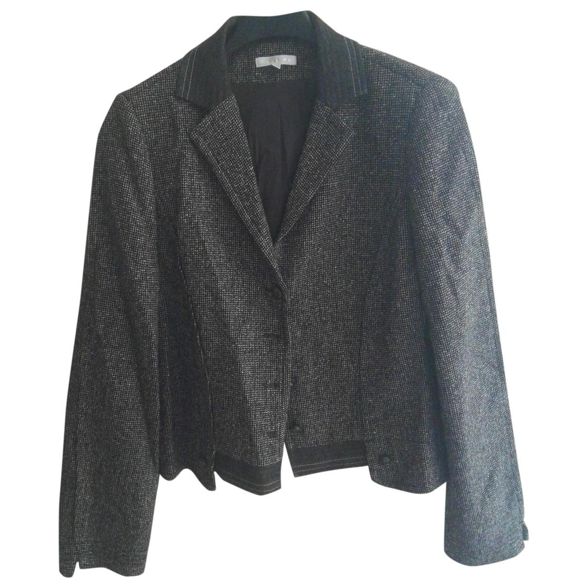 Paule Ka - Veste   pour femme en laine - marron