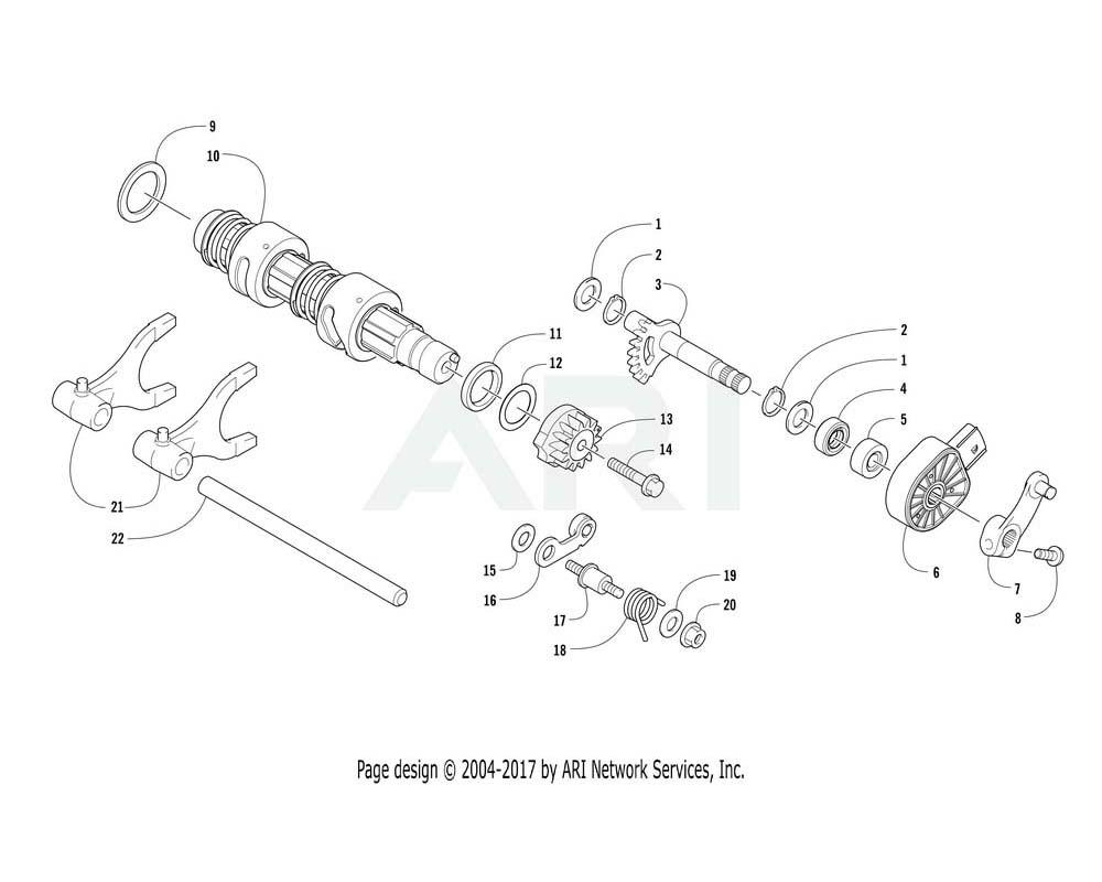 Arctic Cat OEM 0818-133 Shaft Gear Shift P Pb