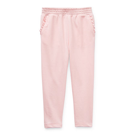 Okie Dokie Little Girls Straight Jogger Pant, 6 , Pink