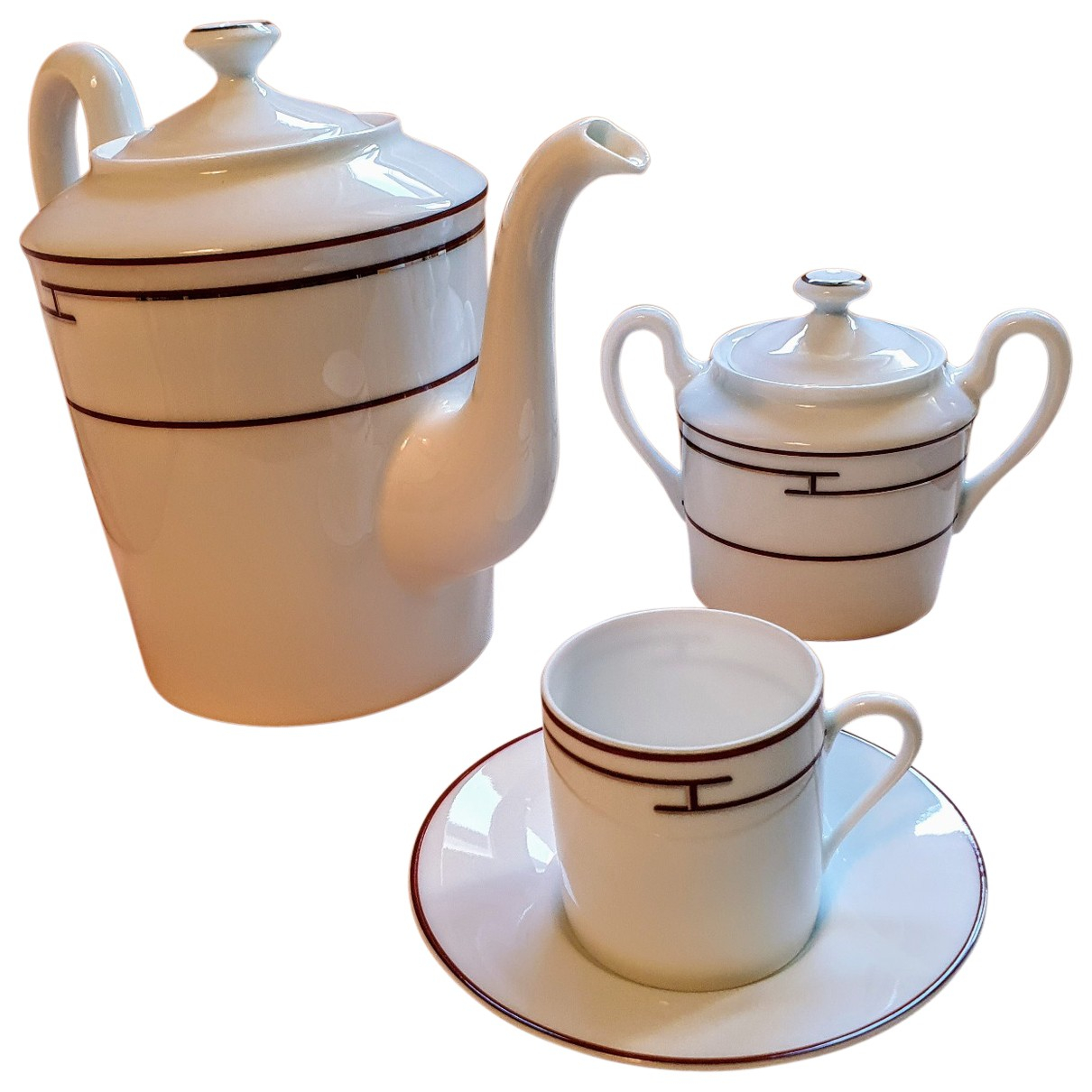 Hermes - Arts de la table Rythme pour lifestyle en porcelaine - blanc