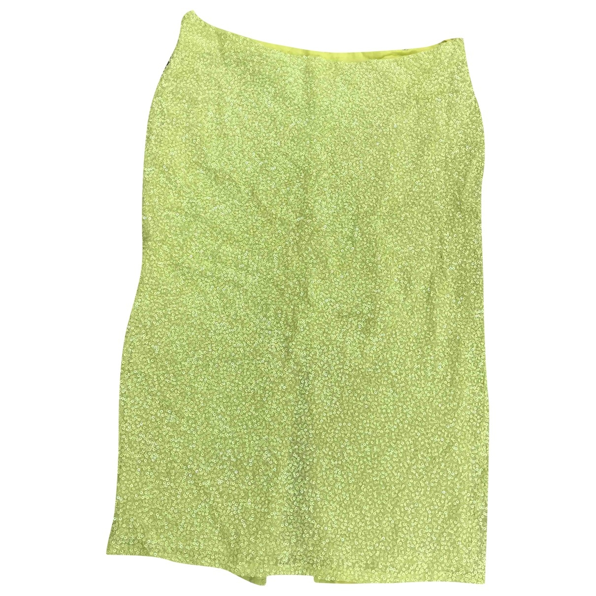 Non Signé / Unsigned \N Green Silk skirt for Women 36 FR