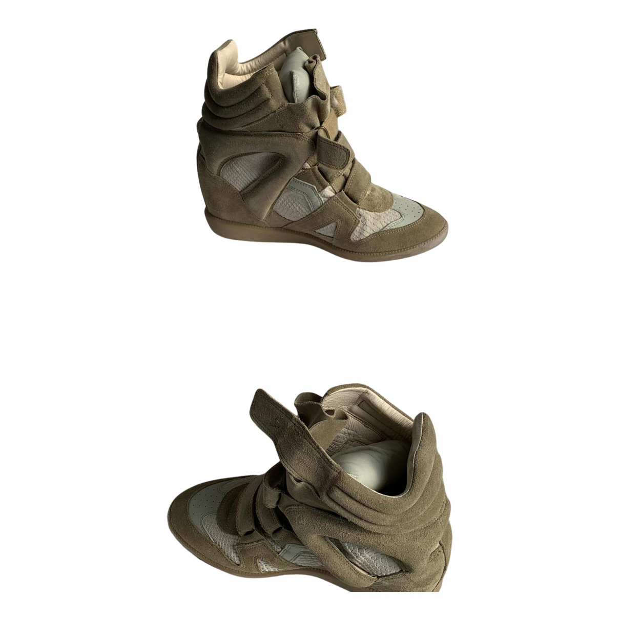 Isabel Marant Beckett Sneakers in  Beige Veloursleder