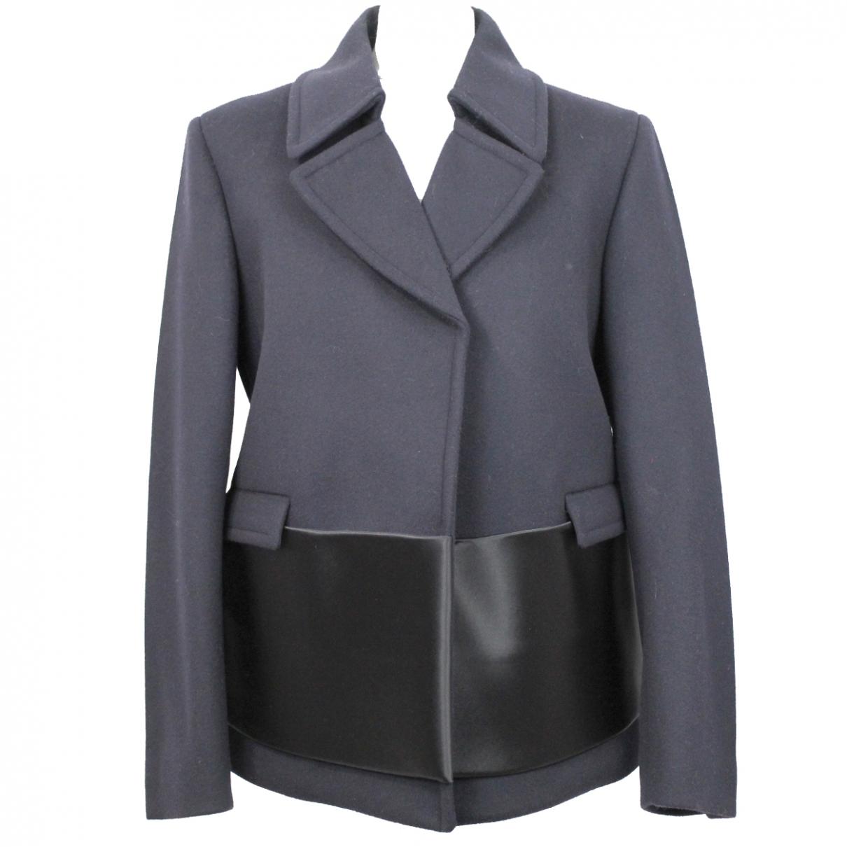 Celine \N Navy Wool jacket for Women 40 FR
