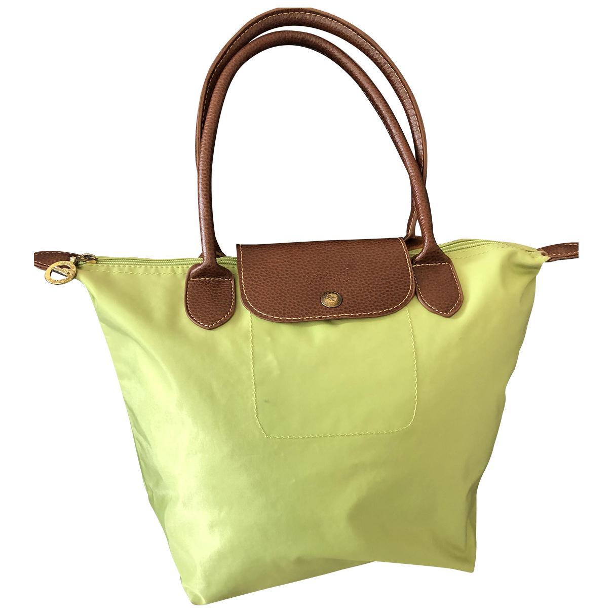 Longchamp Pliage  Green Cloth handbag for Women \N
