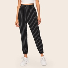 SHEIN Crop Hose mit Streifen und Tasche