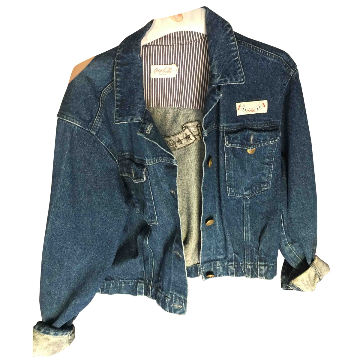 Non Signé / Unsigned \N Blue Denim - Jeans jacket for Women 38 FR