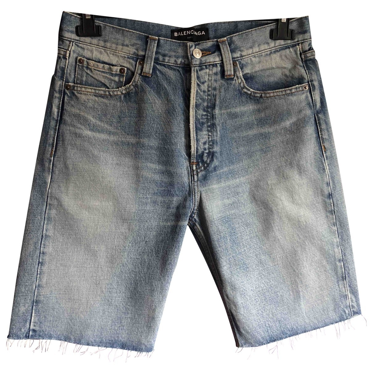 Balenciaga \N Blue Cotton Shorts for Men 30 US