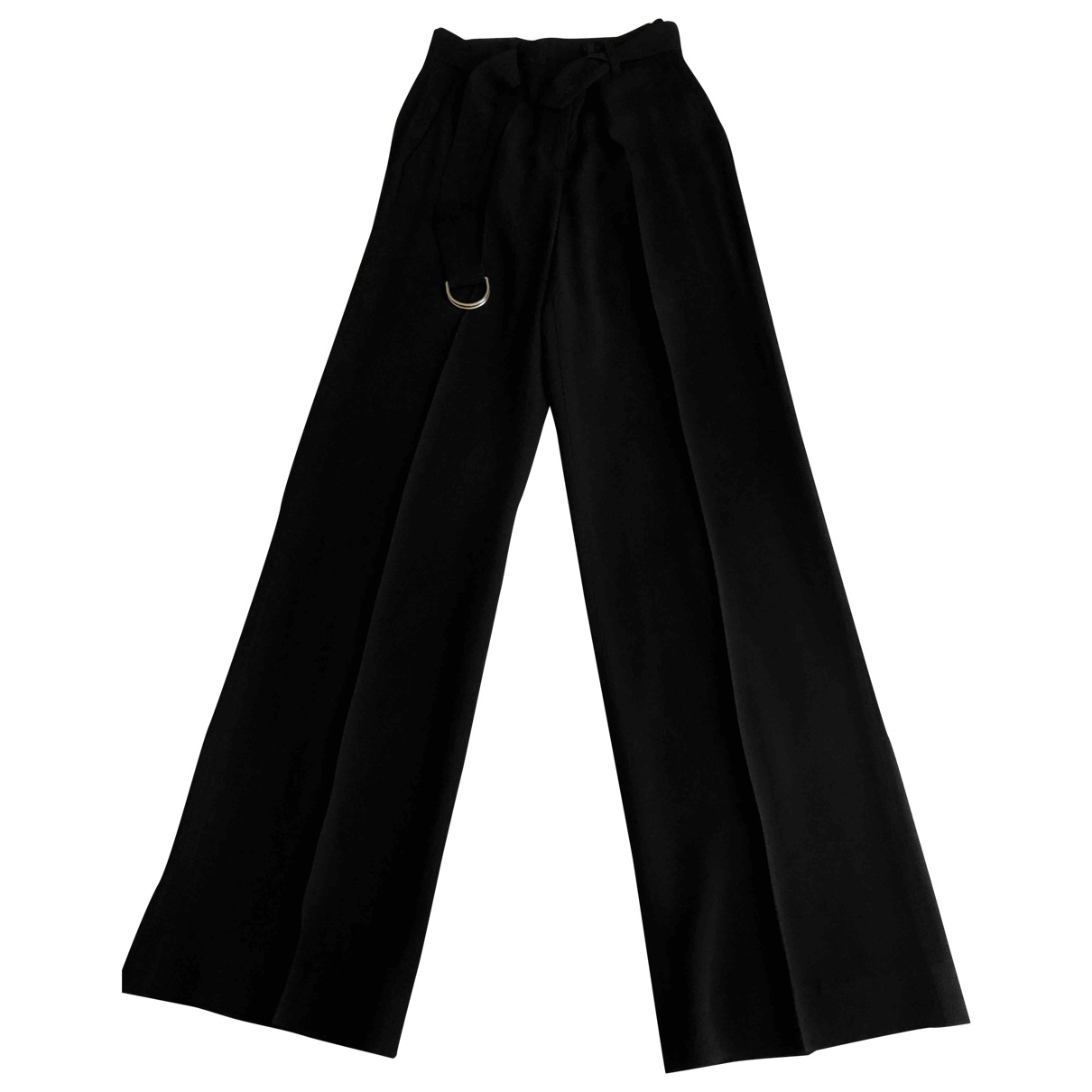 Massimo Dutti \N Black Cloth Trousers for Women 4 US