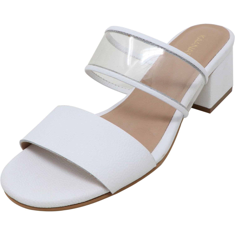 Kaanas Women's Malta White Leather Heel - 6M