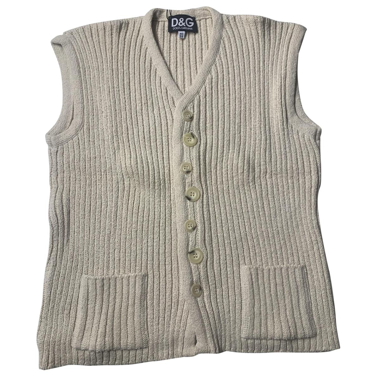 D&g \N Beige Cotton Knitwear & Sweatshirts for Men 54 IT
