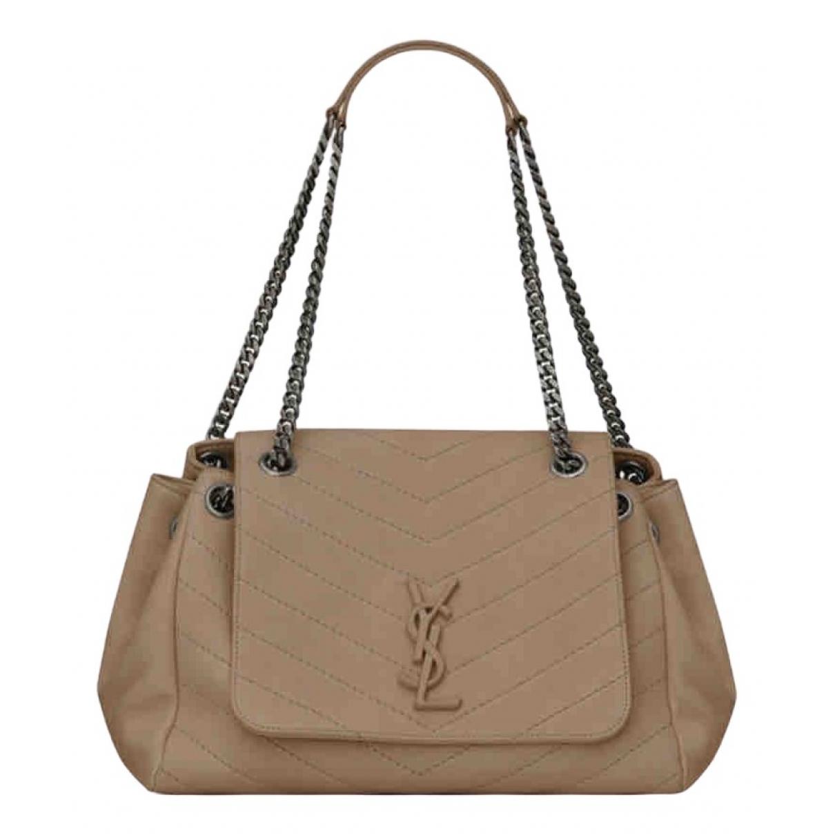 Saint Laurent Nolita Beige Leather handbag for Women \N