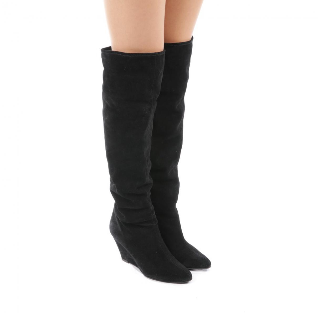 Giuseppe Zanotti \N Black Cloth Boots for Women 38 EU