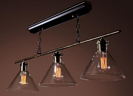241809 Lola 3-light Island Edison Chandelier with Bulbs in