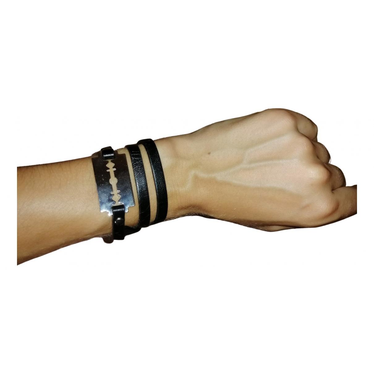 Mcq \N Armband in  Schwarz Leder