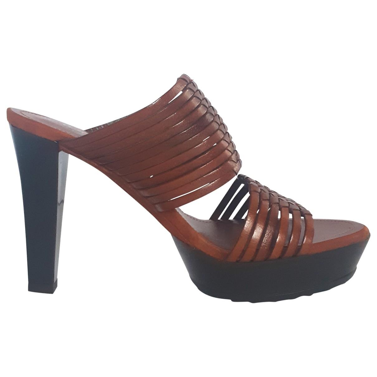 Tods - Sandales   pour femme en cuir - marron