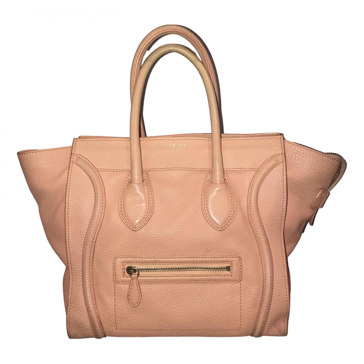 Celine Luggage Pink Leather handbag for Women \N