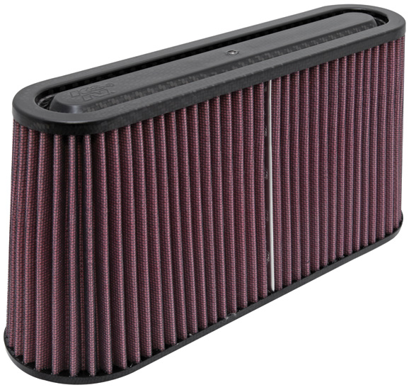 K&N RP-5105 Universal Air Filter - Carbon Fiber Top and Base