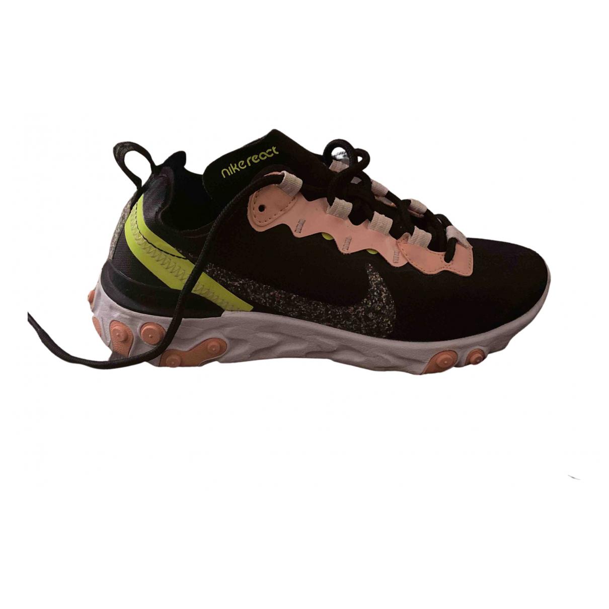 Nike - Baskets React element 55 pour femme - rose