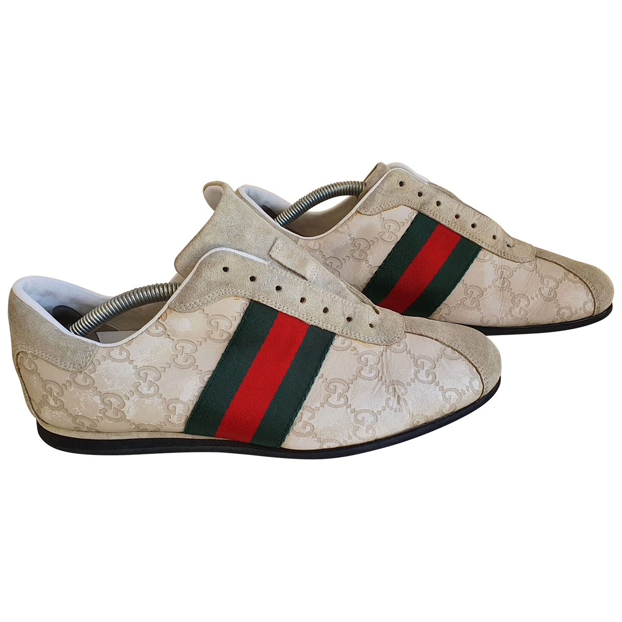 Gucci \N Beige Leather Trainers for Men 40 EU