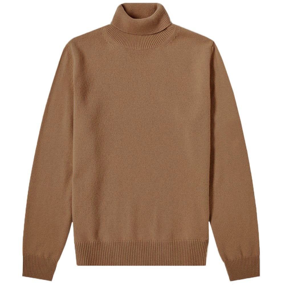 Maison Margiela Turtle Neck Patch Pullover Jumper Colour: BROWN, Size: LARGE