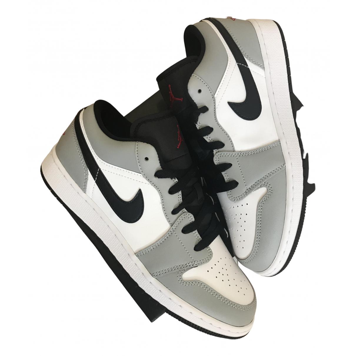 Jordan Air Jordan 1  Grey Leather Trainers for Women 9 US
