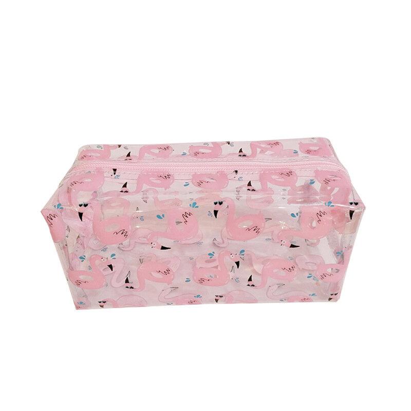 PVC Transparent Flamingo Cosmetic Bag Travel Storage Wash Bag