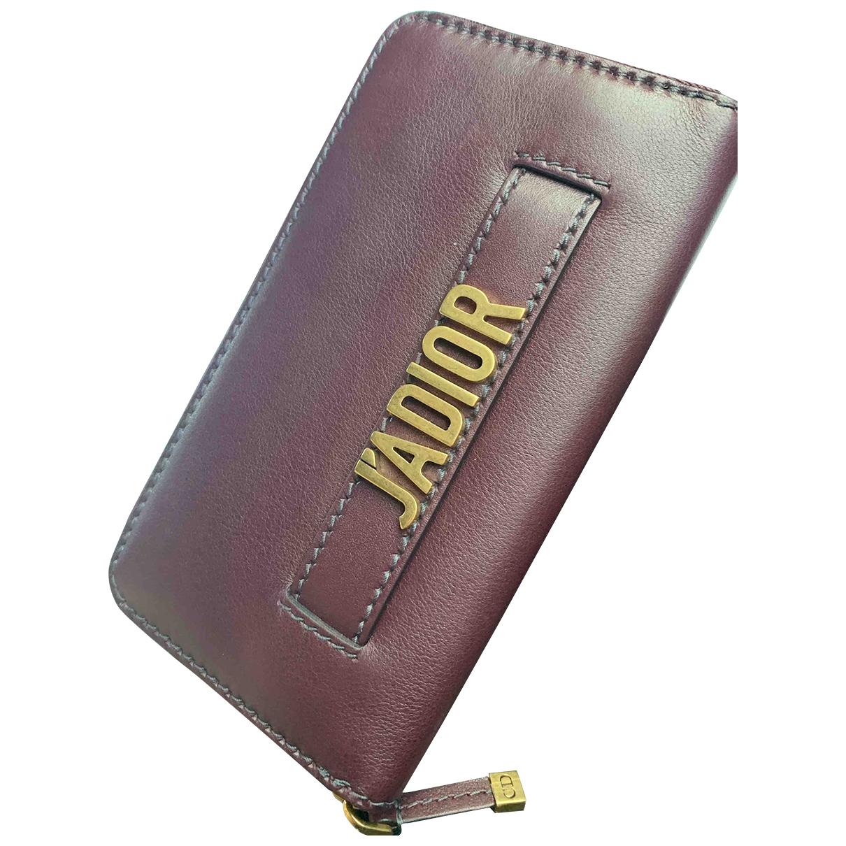Dior \N Burgundy Leather wallet for Women \N