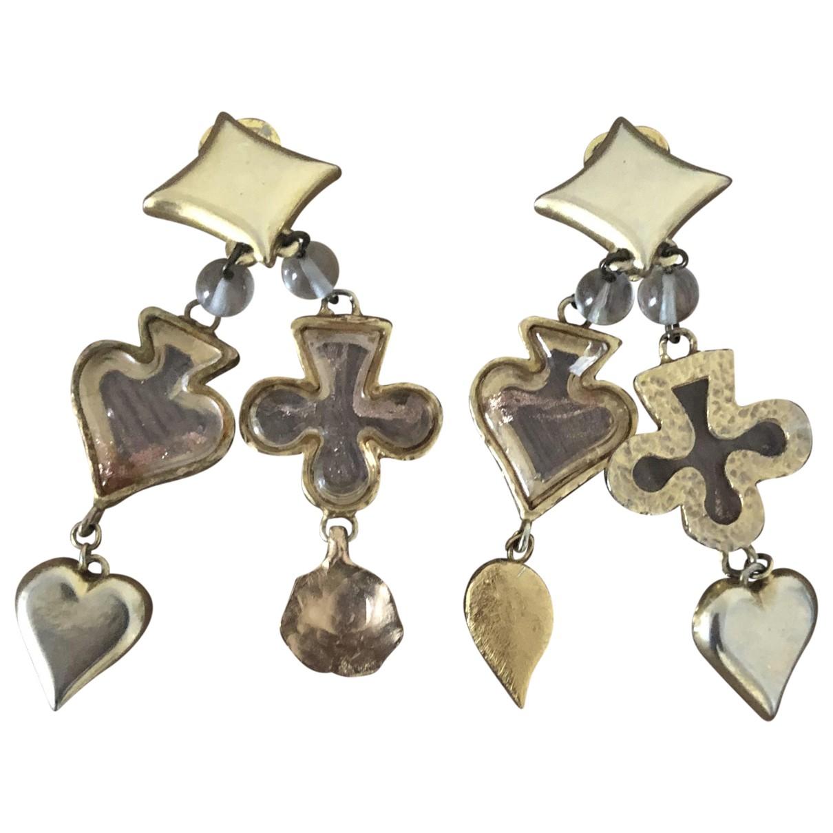 Kenzo N Gold Metal Earrings for Women N