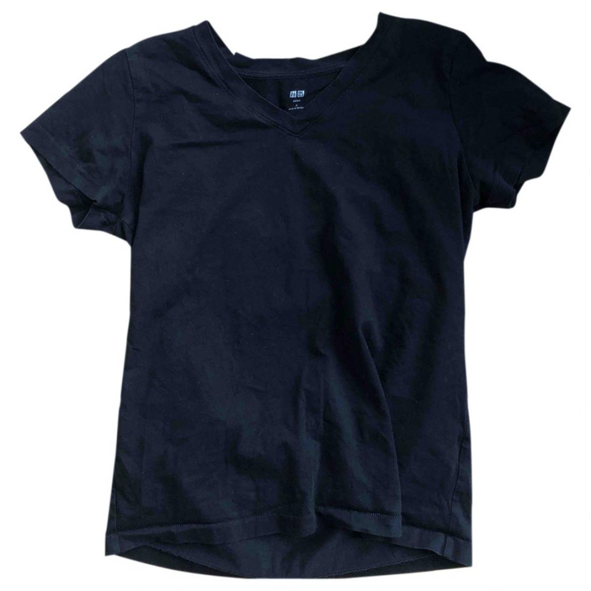 Uniqlo - Top   pour femme en coton - noir