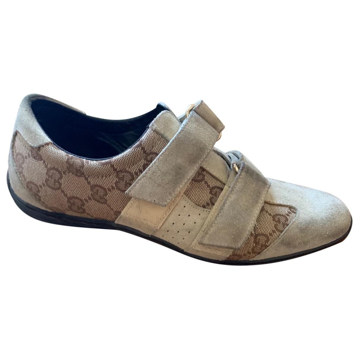 Gucci \N Sneakers in  Beige Leder