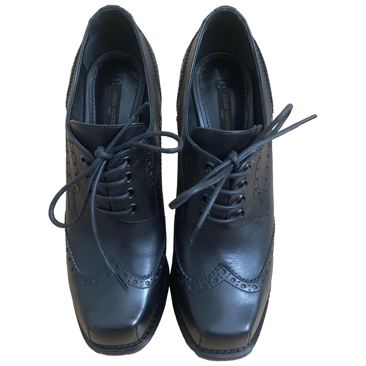 Louis Vuitton - Boots   pour femme en cuir - noir