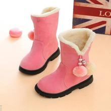 Toddler Girls Pom Pom Decor Boots