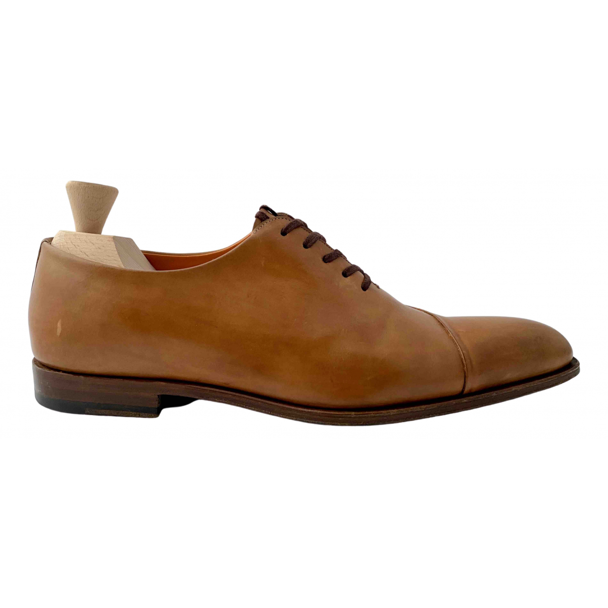 Santoni \N Brown Leather Lace ups for Men 7 UK