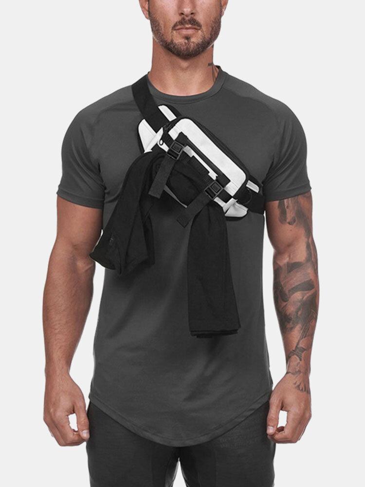 Men Outdoor Tactical Waist Bag Multi-function Chest Bag Sling Bag