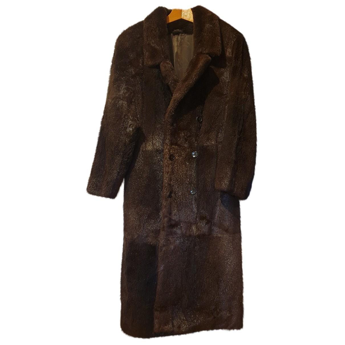 - Manteau   pour homme en castor - marron